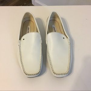 Steve Madden White Leather Shoes SZ 12
